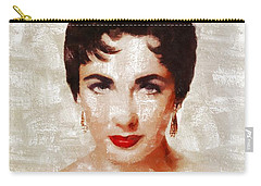 Elizabeth Taylor By Mary Bassett Carry-all Pouch