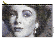 Elizabeth Taylor By Sarah Kirk Carry-all Pouch