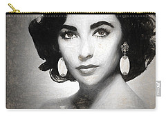 Elizabeth Taylor Drawing Carry-all Pouch by Quim Abella