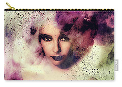 Elizabeth Taylor Grunge Abstract Realism Carry-all Pouch by Georgiana Romanovna