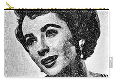 Elizabeth Taylor, Vintage Actress By Js Carry-all Pouch