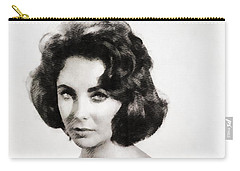 Elizabeth Taylor, Vintage Hollywood Legend By John Springfield Carry-all Pouch