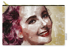 Elizabeth Taylor, Vintage Hollywood Legend By Mary Bassett Carry-all Pouch