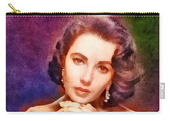 Elizabeth Taylor, Vintage Hollywood Legend Carry-all Pouch by Frank Falcon