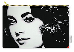 Elizabethtaylor Carry-all Pouch by Luis Ludzska