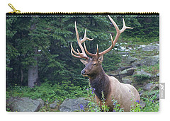 Carry-all Pouch featuring the photograph Elk 4 by Gary Lengyel