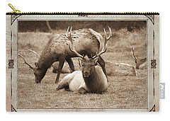 Carry-all Pouch featuring the photograph Elk by Athala Carole Bruckner