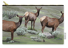 Elk Cows Trio Carry-all Pouch