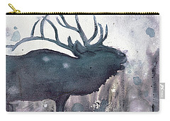 Carry-all Pouch featuring the painting Elk by Dawn Derman