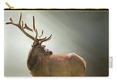 Carry-all Pouch featuring the photograph Elk In Suns Rays by David and Carol Kelly