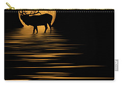 Elk In The Moonlight Carry-all Pouch