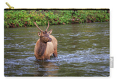 Elk In The Stream 3 Carry-all Pouch
