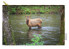 Elk In The Stream Carry-all Pouch