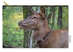 Elk In The Woods Carry-all Pouch