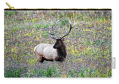 Elk In Wildflowers #2 Carry-all Pouch
