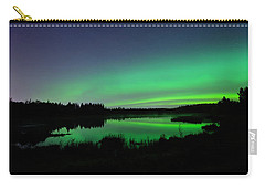 Elk Island Aurora Reflections Carry-all Pouch