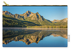 Elk Mountain Reflections With Merganser Ducklings Carry-all Pouch