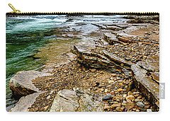 Carry-all Pouch featuring the photograph Elk River In The Rain by Thomas R Fletcher