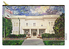 Carry-all Pouch featuring the painting Alameda Elks, Lodge #1015 by Linda Weinstock