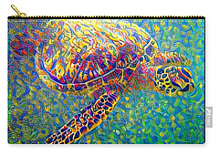 Ella The Turtle Carry-all Pouch by Erika Swartzkopf