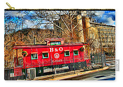 Ellicott City Train And Factory Carry-all Pouch