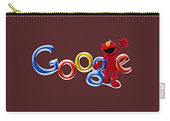 Elmo Google T-shirt Carry-all Pouch by Herb Strobino