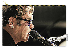 Elton John At The Mic Carry-all Pouch by Elaine Plesser