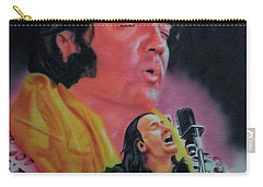 Carry-all Pouch featuring the painting Elvis And Jon by Thomas J Herring