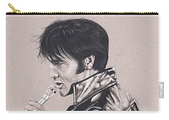 Elvis In Charcoal #177, No Title Carry-all Pouch