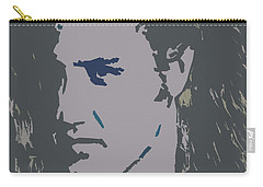 Carry-all Pouch featuring the painting Elvis The King by Robert Margetts
