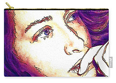 Carry-all Pouch featuring the digital art Ely by Ely Arsha
