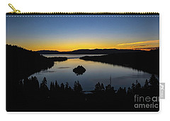 Carry-all Pouch featuring the photograph Emerald Bay Sunrise by Mitch Shindelbower