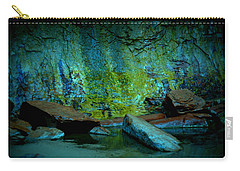 Emerald Cave Carry-all Pouch by Nature Macabre Photography