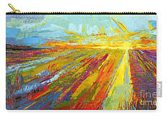 Emerald Dreams Modern Impressionist Oil Painting  Carry-all Pouch