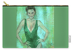 Emerald Greem Carry-all Pouch by P J Lewis