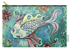 Emerald Koi Carry-all Pouch by Shadia Derbyshire