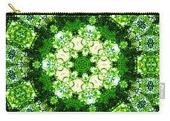 Carry-all Pouch featuring the digital art Emerald Lace by Shawna Rowe