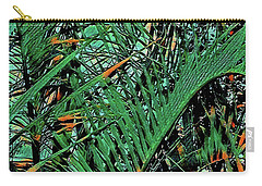 Carry-all Pouch featuring the digital art Emerald Palms by Mindy Newman