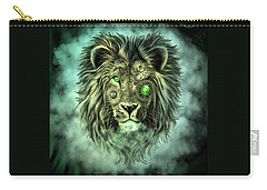 Emerald Steampunk Lion King Carry-all Pouch