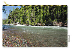 Carry-all Pouch featuring the photograph Emerald Waters Flow by Margaret Pitcher