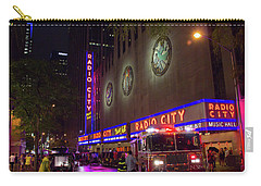Carry-all Pouch featuring the photograph Emergency At Radio City by RKAB Works
