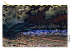 Carry-all Pouch featuring the painting Emerging Darkness by Reed Novotny