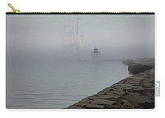 Carry-all Pouch featuring the photograph Emerging From The Fog by Jeff Folger