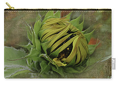 Carry-all Pouch featuring the photograph Emerging Sunflower by Judy Hall-Folde