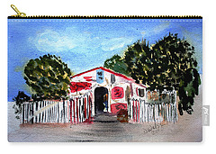 Carry-all Pouch featuring the painting Emiles Road Side Grocer by Donna Walsh