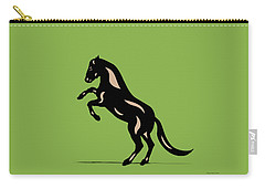 Emma - Pop Art Horse - Black, Hazelnut, Greenery Carry-all Pouch