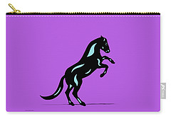 Emma II - Pop Art Horse - Black, Island Paradise Blue, Purple Carry-all Pouch
