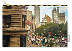Carry-all Pouch featuring the photograph Empire State Building - Crackled View 3 by Madeline Ellis
