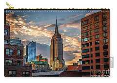 Empire State Building Sunset Rooftop Carry-all Pouch