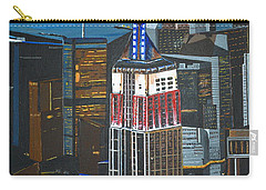 Carry-all Pouch featuring the painting Empire State by Donna Blossom
